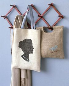 Cross stitch silhouette: Embellished Tote, Crossstitch, Silhouette Tote, Diy Craft, Modern Cross Stitch, Tote Bags, Cross Stitches