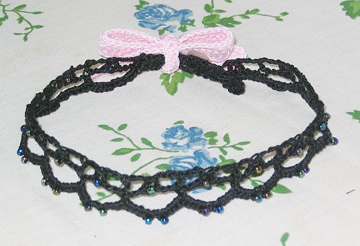 Ribbon Choker to crochet. Free pattern. Two styles ...