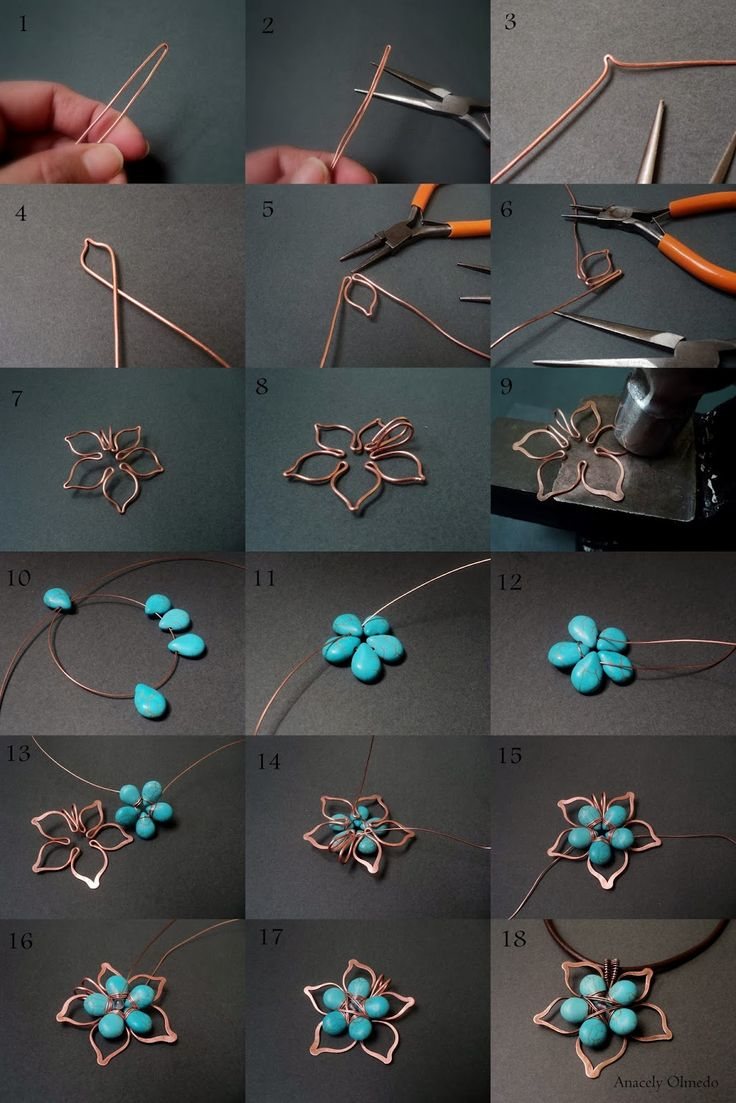 Fradany: Tutorial: Flower Stones and Wire based