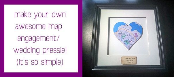 Make Your Own Personalised Wooden Map Heart Engagement Present Wedding Present Featured