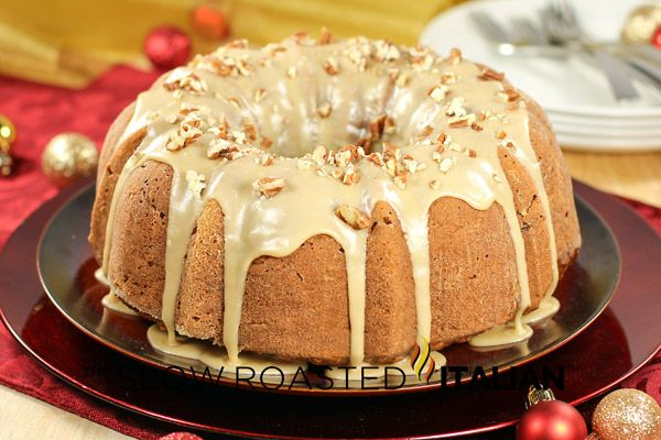 Caramel Apple Pecan Cake