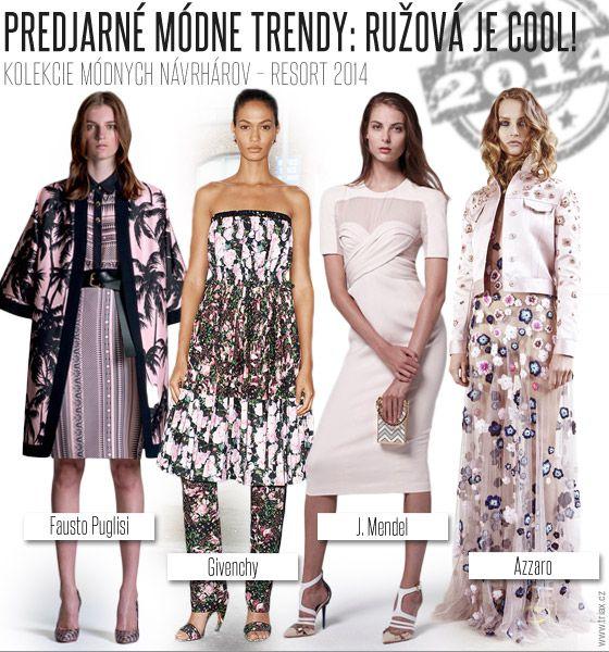 Predjarné módne trendy.: Ružová je cool! / Resort 2014