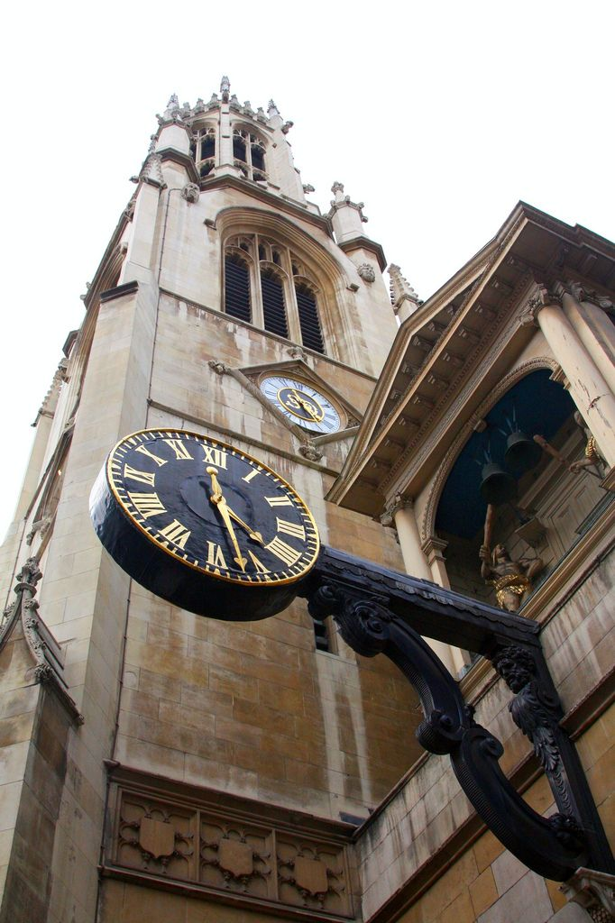 Tower and Clock at St Dunstan-in-the-West, Fleet Street, London