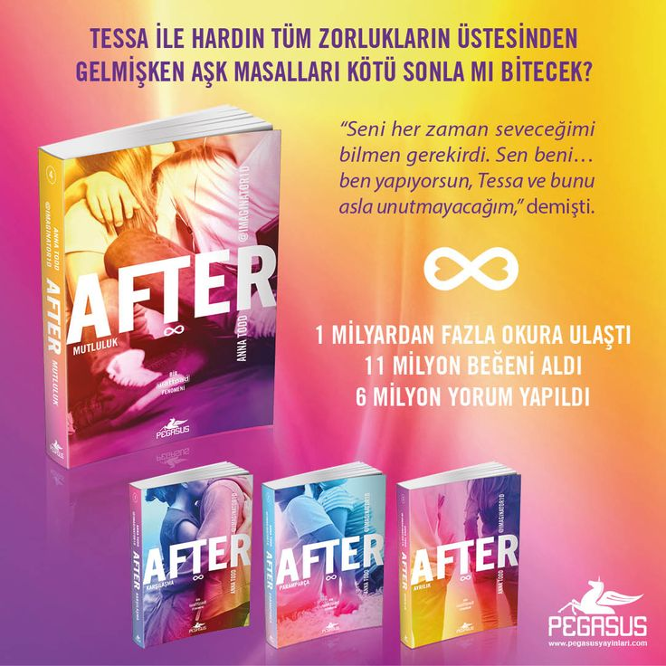 YENİ!  AFTER 4: MUTLULUK - ANNA TODD  Tessa ile Hardin tüm zorlukların üstesinden gelmişken aşk masalları kötü sonla mı bitecek?  Özgün Adı: After Ever Happy Çeviri: Gülce Arman Bayrakçı Tür: Roman  Sayfa: 540 Dağıtım Tarihi: 20 Eylül Ön sipariş vermek için: http://urun.n11.com/roman/after-4-mutluluk-P207662095?utm_content=buffer60876&utm_medium=social&utm_source=pinterest.com&utm_campaign=buffer
