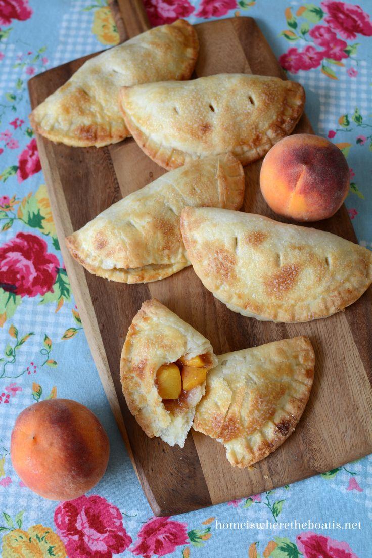 Baked Peach Turnover Pies (1) From: Home Is Where The Boat Is, please visit
