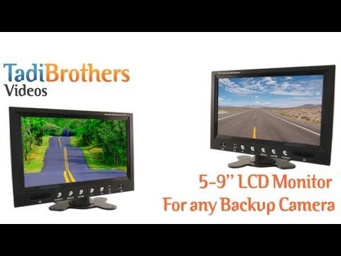 7 Inch Monitor and a 120° Mounted RV Backup Camera (RV Backup System)