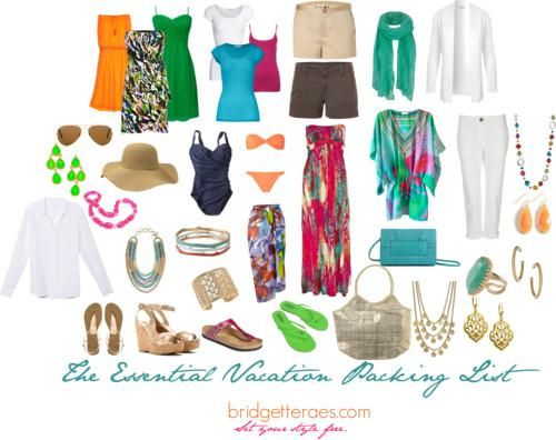 All You Need to Take On Vacation…. I like the colorful dress :)