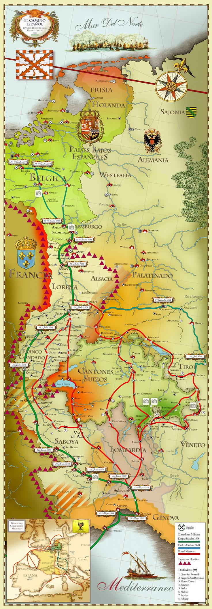 El Camino Español | La Historia con Mapas