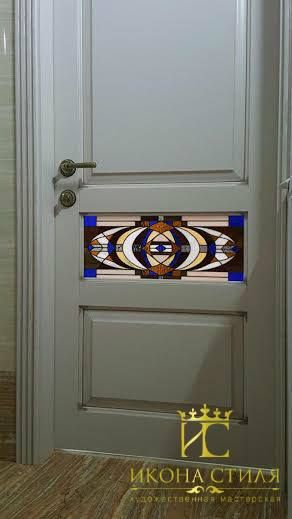We mounted these beautiful Tiffany stained glass windows in the doors of our customer`s apartment. #art #tiffany #stainedglass #glass #window #door #decor #design #interior #architecture #apartment #workflow #craft #studio