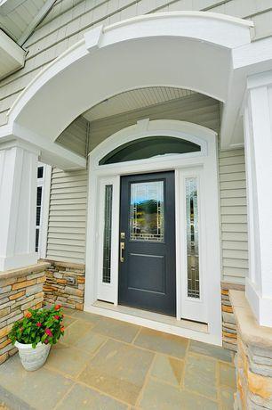 Traditional Front Door With Exterior Tile Floors Front Door Ideas