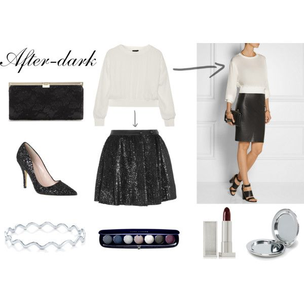 """""""Holiday outfit: After-dark"""" by thefashionjourn on Polyvore - Holiday style equations: http://bit.ly/1BZZuUt"""