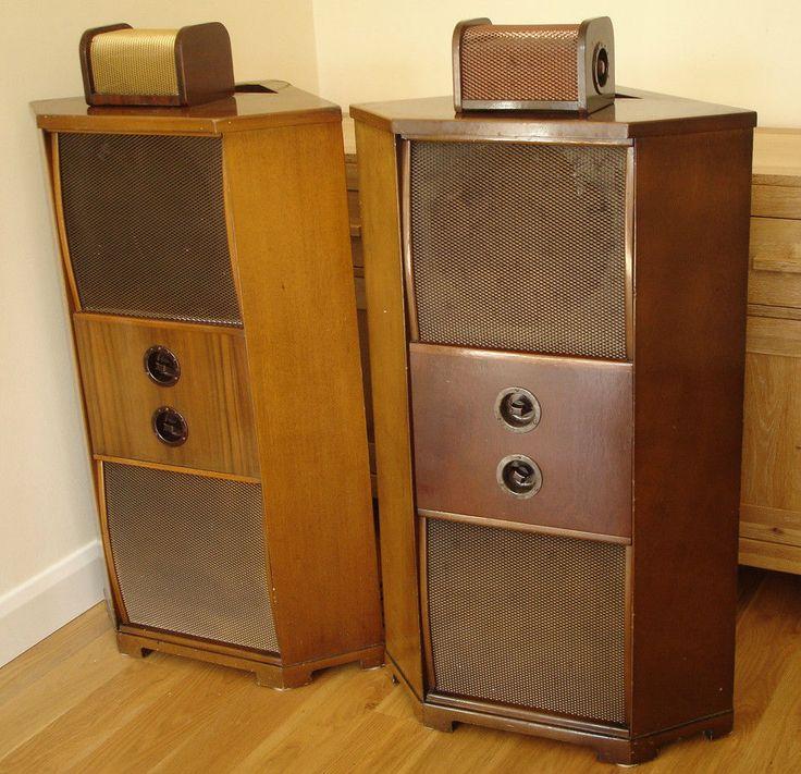 vintage harman kardon speakers. vintage 1947 wharfedale corner speakers (w10/cs and w12/cs drivers) harman kardon p