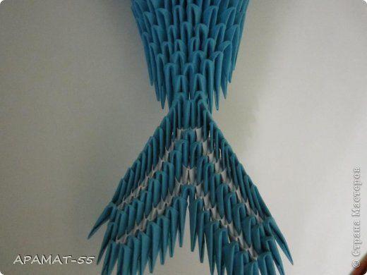 Мастер-класс, Поделка, изделие Оригами модульное: Дельфин Бумага. Фото 27