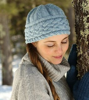 "Free knit hat pattern.....28 stitches = 4"" cable"