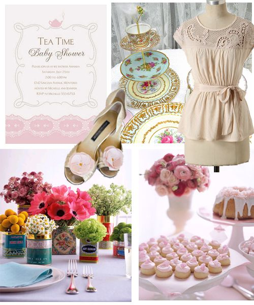 best tea party ideas images on   tea party baby, Baby shower invitation