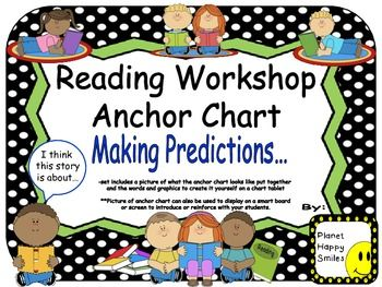 "Reading Workshop Anchor Chart - ""Making Predictions"""