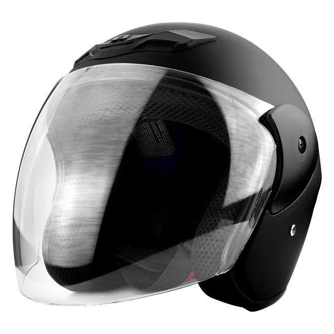 Black YouN Unisex Motorcycle Helmets Open Face Half Helmet Adjustable Helmet