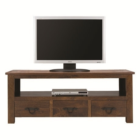 Brittany 3 Drawer Entertainment Unit Toffee