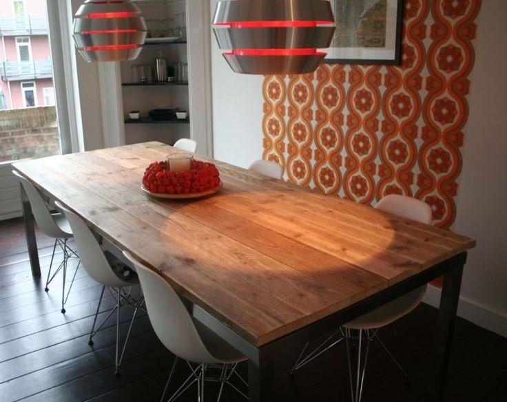 Steigerhout RVS tafel Fokke & Fokke | de Steigeraar tafels van steigerhout