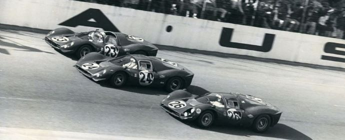 Ferrari goes 1-2-3 at Daytona in 1967. My favorite race cars of all time.