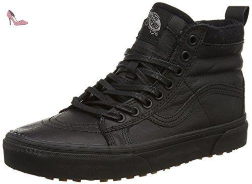 Vans Sk8-hi Mte, Sneakers Hautes mixte adulte - Noir (Black/Leather), 36 EU - Chaussures vans (*Partner-Link)