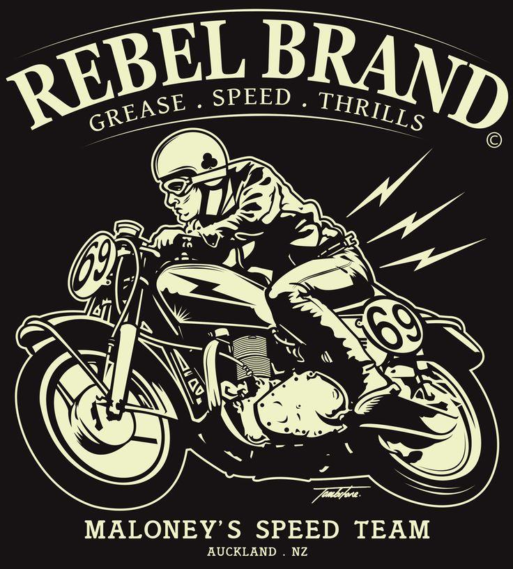 Rebel Brand Cafe Racer T-Shirt Design 2014 on Behance