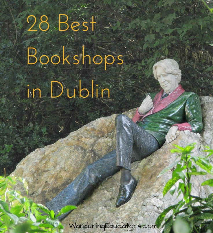 Bookshops, 28 Best Bookshops in Dublin. Count them! Visit them all and buy one book from each shop. Date the back cover and if you are clever make notations of the situations of the day's events. Bundle books, ship home, delightful! Just like Christmas!