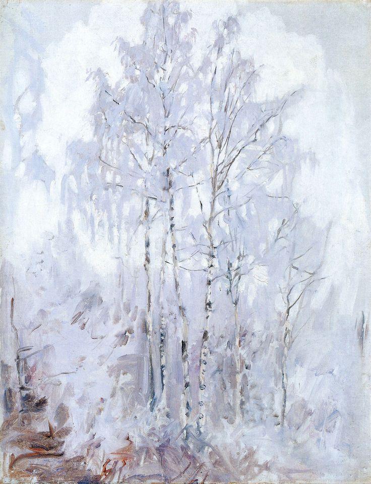 Frosty Birch Trees, 1894 by Akseli Gallen-Kallela (Finnish 1865-1931)