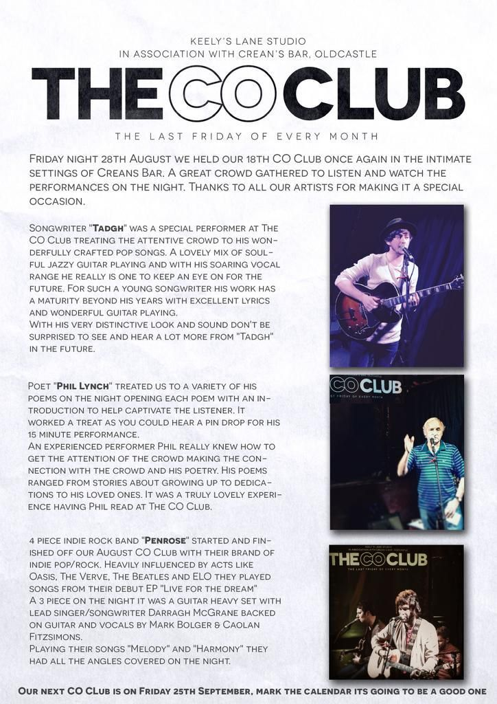 What a lovely #review ,  Thanks to the @TheCOClub for having me.  Very much appreciated.
