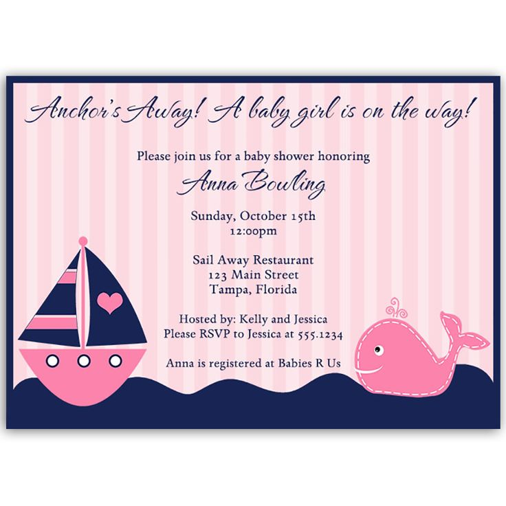 181 Best Baby Shower   Nautical Images On Pinterest Invites   Baby Shower  Invite Samples  Baby Shower Invite Samples