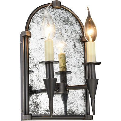 2 LIGHT DINING LIVING ROOM TRANSITIONAL MIRROR WALL SCONCE FOYER HALLWAY BEDROOM