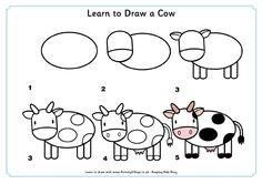 Dibujando paso a paso Vaca