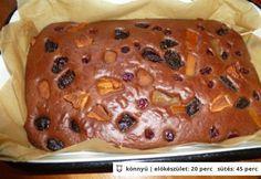 Kakaós bögrés süti aszalt gyümölccsel