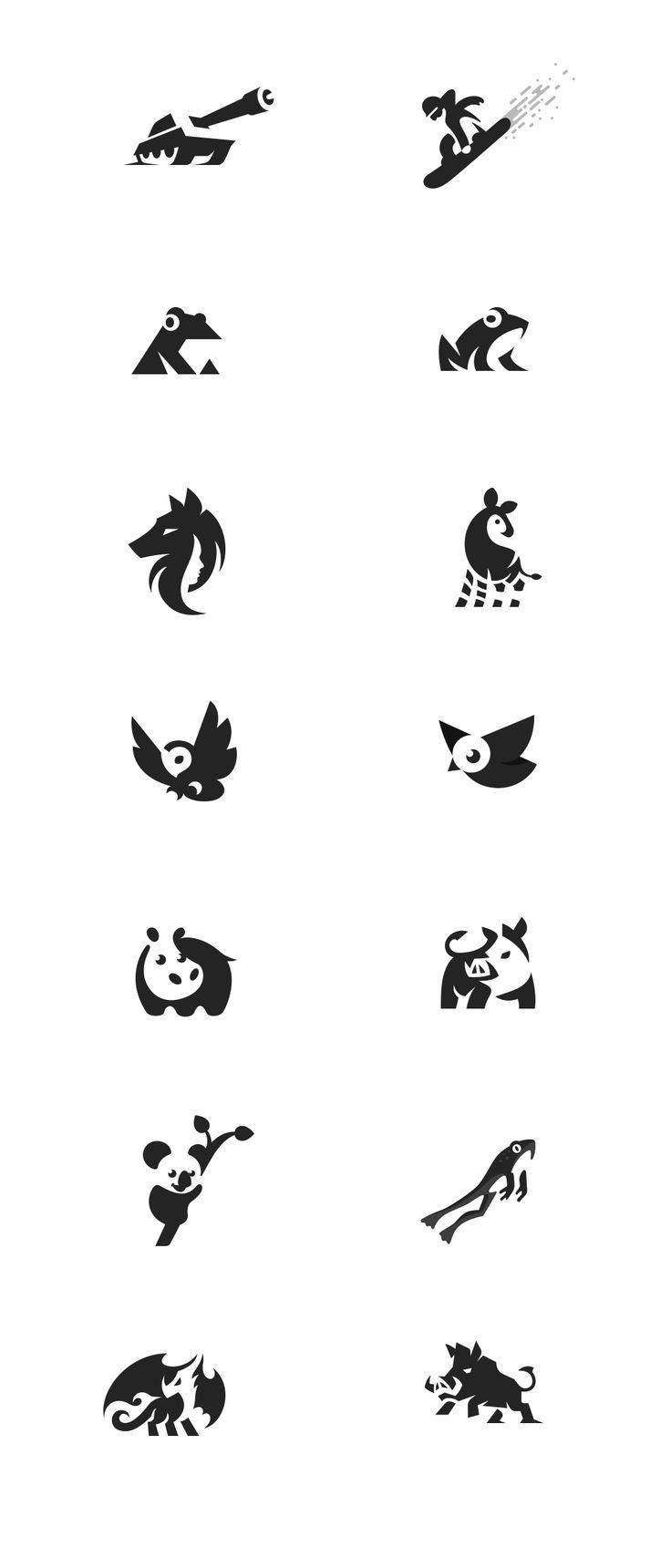 Minimalismo contraforma síntese de animais http://jrstudioweb.com/diseno-grafico/diseno-de-logotipos/