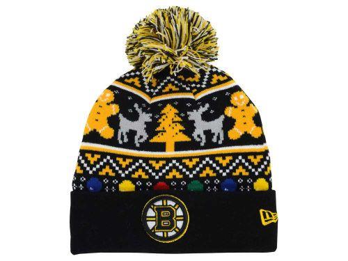 Boston Bruins New Era NHL Ugly Sweater Knit Hats