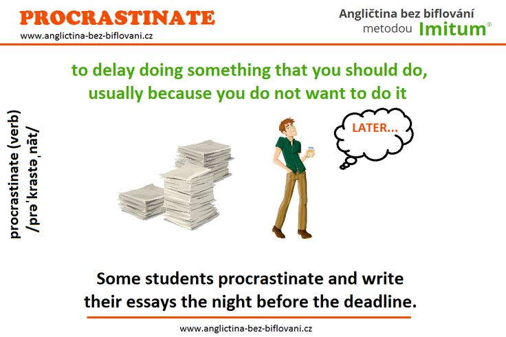 Také občas nemáte čas? Odkládáte důležité věci? Prokrastinujete?