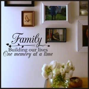 Family Memories Quote | New Designs & Best Sellers Christian Wall Decals