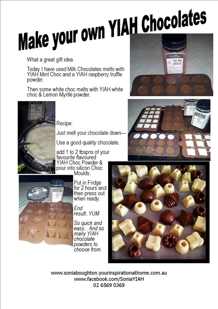 Homemade Chocolates using your Favourite YIAH Chocolate Powders