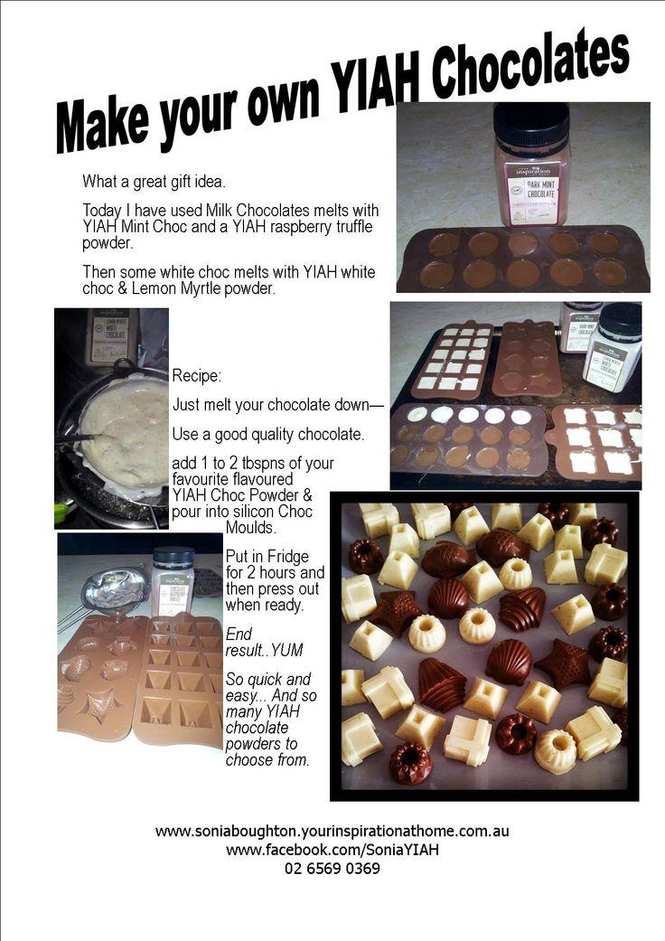 Homemade Chocolates using your Favourite YIAH Chocolate Powders
