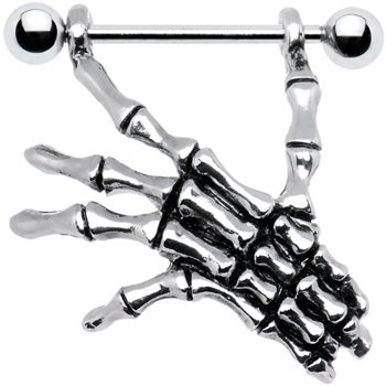 SKELETON HAND Nipple Shield #nipplering #bodycandy #Halloween