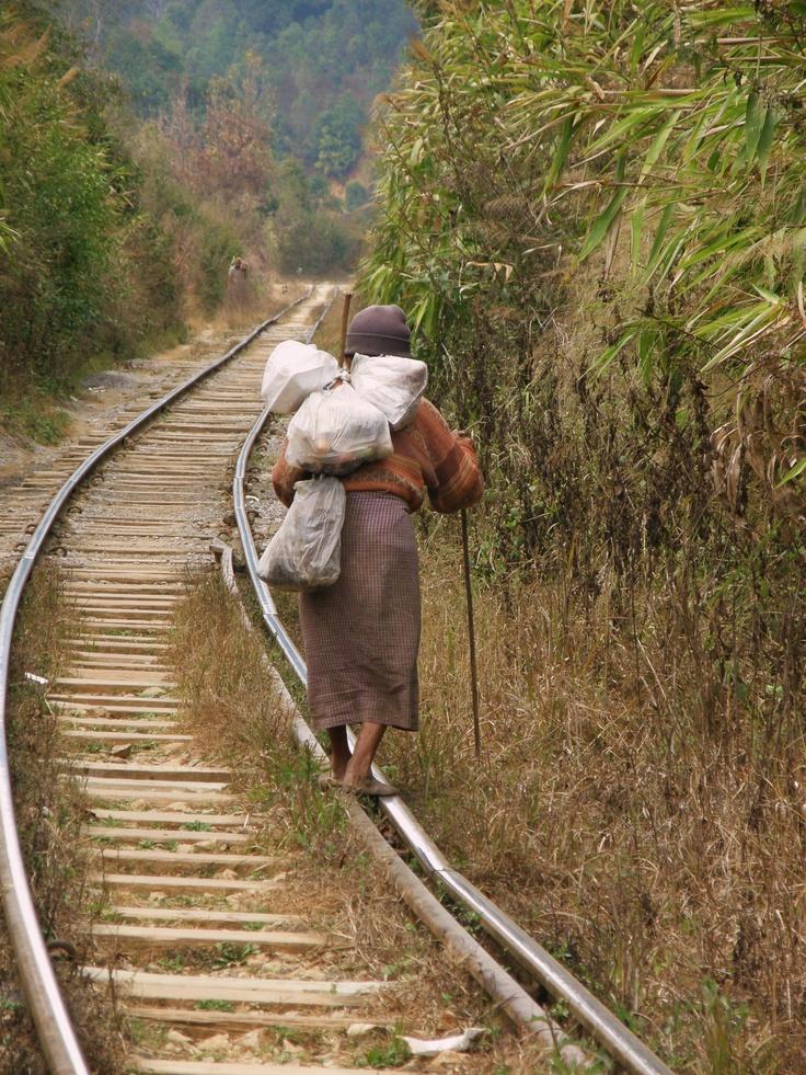 Myanmar - Follow the rail
