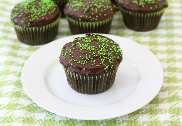 Chocolate Zucchini Cupcakes with Hershey's Chocolate Frosting