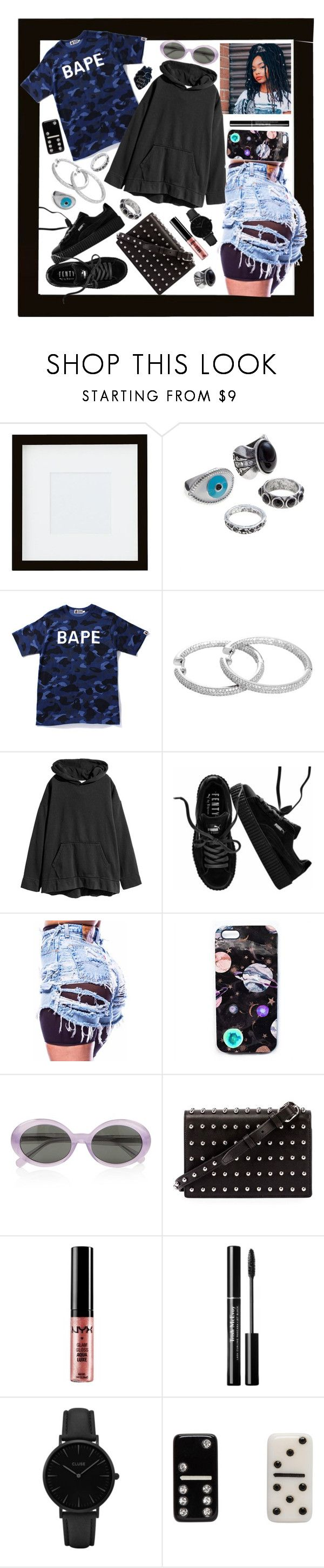 """""""Keep your heart 3 stacks🖤"""" by raven-so-cute ❤ liked on Polyvore featuring Pottery Barn, A BATHING APE, Puma, Nikki Strange, Yves Saint Laurent, Alexander Wang, NYX, CLUSE and Marc Jacobs"""