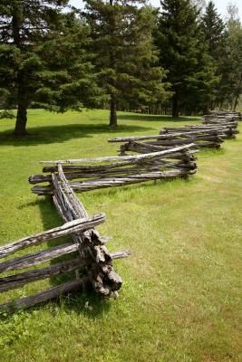 A stack fence, also called a snake fence, can be built without posts.