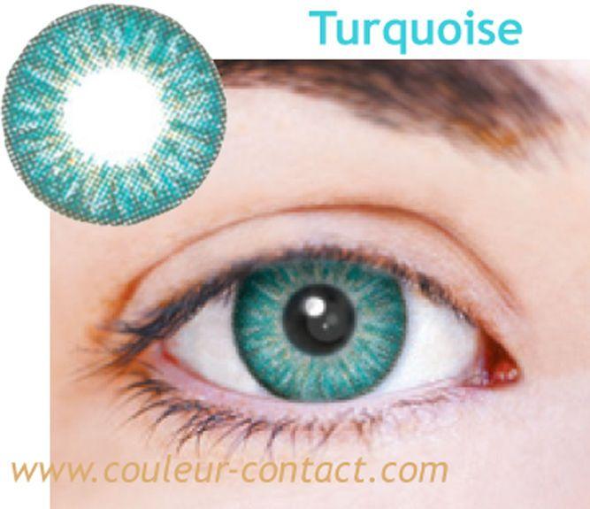 Assez Lentilles de couleur turquoise color lens verres contact dark eyes  VQ21
