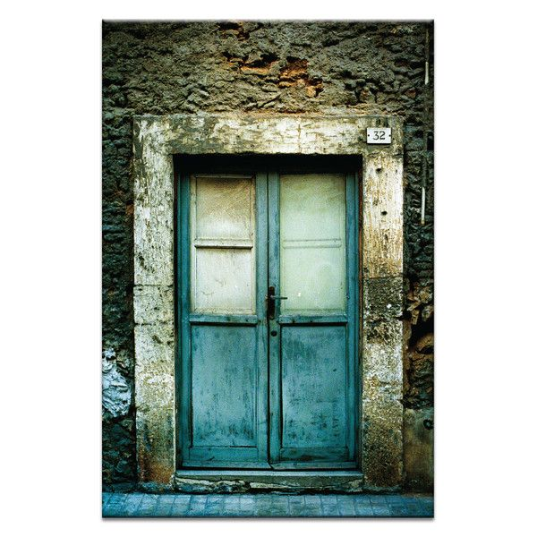 $92 Doors of Italy Doppie Porte Canvas Print 18x12
