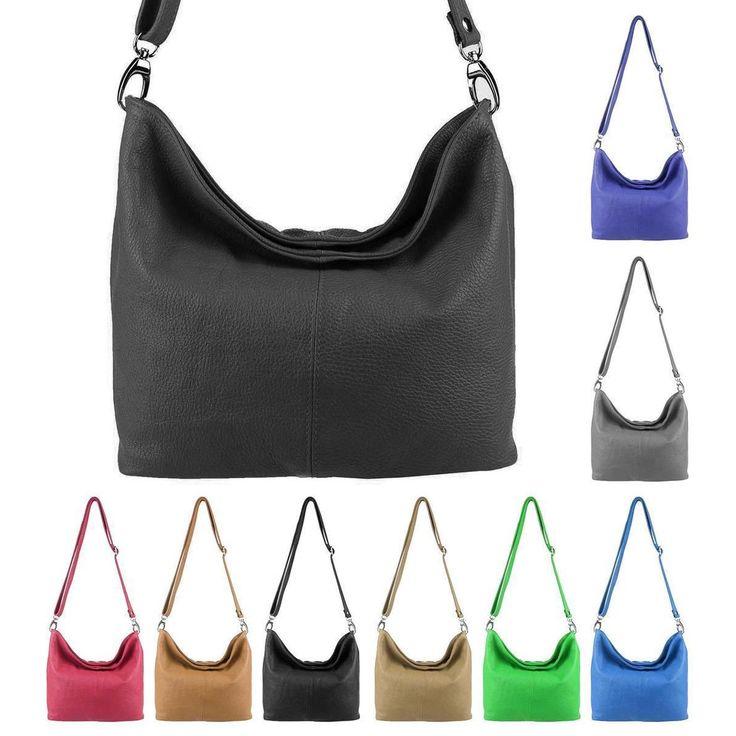 MADE in ITALY Damen LEDER TASCHE Handtasche Umhängetasche Shopper Damentasche Schultertasche Cross-Over Ledertasche – Italyshop24.com