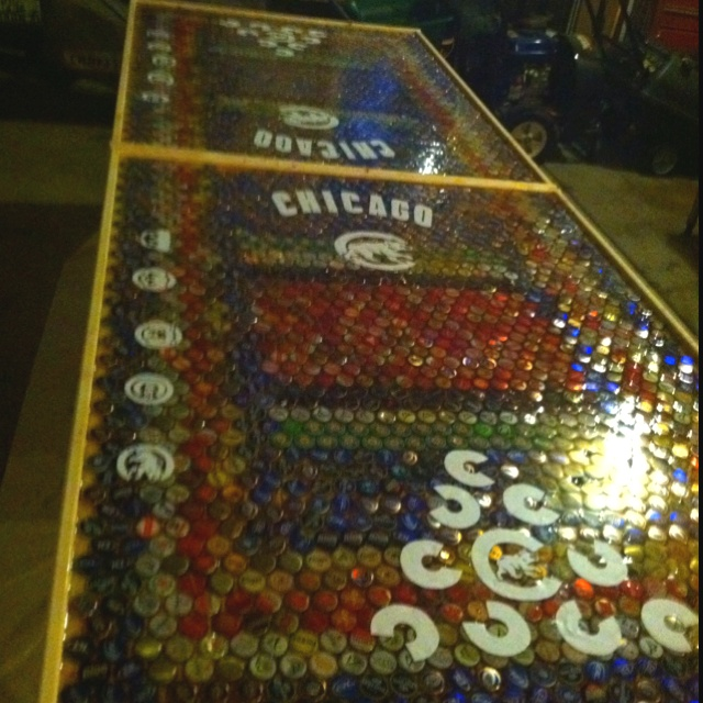 1000 images about beer pong table ideas on pinterest for Cool beer cap ideas