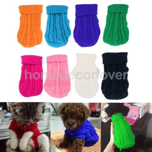 Pet-Xmas-Thick-Knitted-Sweater-Jumper-Puppy-Dog-Winter-Outfit-Apparel-5-Sizes