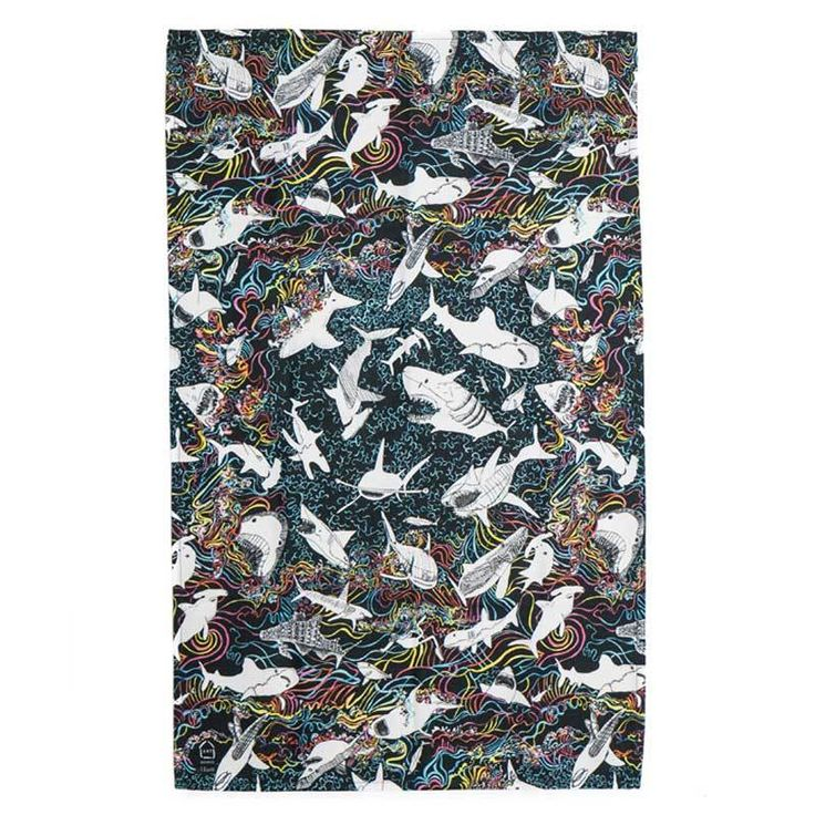 Arthouse Meath Rainbow Sharks Tea Towel